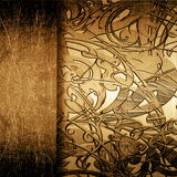 Grunge metal plate with ornament Stock Image