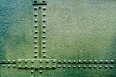 Grunge metal plate with rivets Royalty Free Stock Image