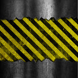Grunge metal and stripes background Stock Photography