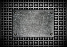Grunge metal template royalty free illustration