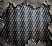 Grunge metal template background Stock Photos