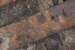 Grunge metal and wood texture Stock Image