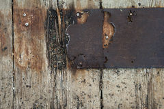 Grunge metal and wood texture Stock Photos