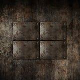 Grunge metallbakgrund Arkivbild