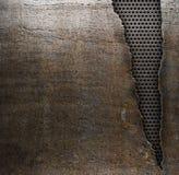 Grunge Metallhintergrund mit zerrissenem Loch stockfoto