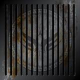 Grunge metallic grille Stock Images