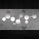 Grunge metallic molecule background Stock Photos