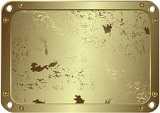 Grunge metallic silvery frame (vector) Stock Photography