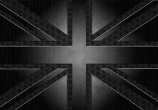 Grunge metallic union jack Royalty Free Stock Images
