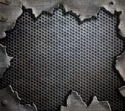 Grunge Metallschablonenhintergrund Stockfotos