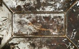 grunge metalu ośniedziała powierzchnia Zdjęcie Stock
