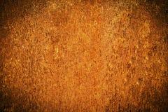 Grunge metalu zrudziała i pomarańczowa tekstura dla Halloween tła Obrazy Stock