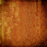 Grunge metalu zrudziała i pomarańczowa tekstura dla Halloween tła Fotografia Stock