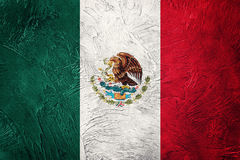 Grunge Mexico flag. Mexican flag with grunge texture. Grunge flag Royalty Free Stock Photo