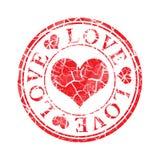 grunge miłości znaczek Fotografia Royalty Free