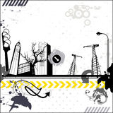 Grunge miastowa karta Obrazy Stock
