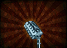 Grunge microphone Stock Images