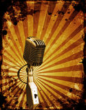 Grunge microphone Stock Photography