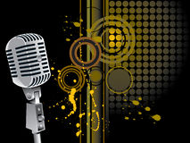 Grunge microphone stock illustration