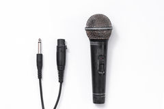 Grunge microphone on white background Royalty Free Stock Image