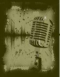 grunge mikrofonu Obrazy Royalty Free