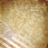 Grunge militarny tło w kolorze żółtym Zdjęcie Stock