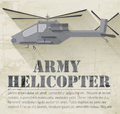 Grunge military helicopter icon background concept Royalty Free Stock Images