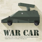 Grunge military war car icon background concept. Stock Photography