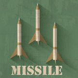 Grunge missile icon background concept. Vector Royalty Free Stock Photos