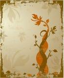 Grunge mit Blumen Stockbilder