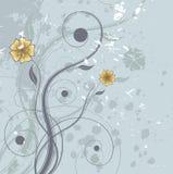 Grunge mit Blumen Lizenzfreie Stockbilder