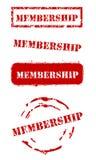 Grunge Mitgliedschafts-Stempel Lizenzfreies Stockfoto