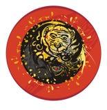 Grunge monkey circle Stock Images
