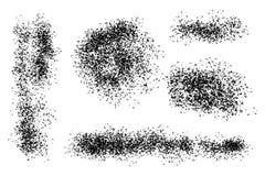 Grunge monochrome vector backgrounds, various shape textured spots. Dust overlay distress grain, images simply placed. Grunge monochrome vector backgrounds vector illustration