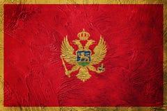 Grunge Montenegro flaga Montenegro flaga z grunge teksturą Zdjęcie Stock