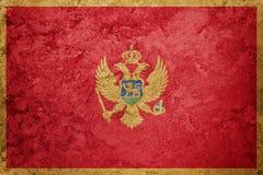 Grunge Montenegro flaga Montenegro flaga z grunge teksturą Zdjęcia Royalty Free
