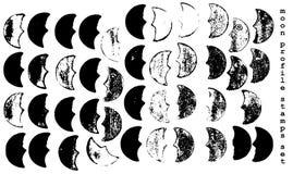 Grunge moon prints Stock Image