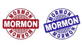 Grunge mormon Drapający Wokoło Stemplowych fok ilustracji