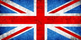 Grunge mosaic Flag of Great Britain. Illustration Stock Photos