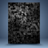 Black geometric grunge abstract background Royalty Free Stock Image