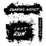 Grunge Motivational Poster Running Royalty Free Stock Photos