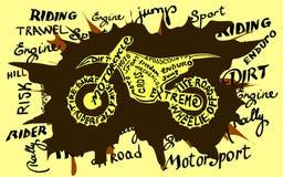 Grunge motocross newspaper. Enduro motocross grunge newspaper. Old paper background,vector illustration Royalty Free Stock Photography