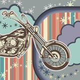 Grunge Motorcycle Background Royalty Free Stock Image