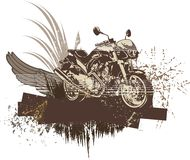 Grunge Motorcycle Background Royalty Free Stock Images