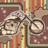 Grunge Motorcycle Background Stock Photos