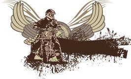 Grunge Motorcycle Background Royalty Free Stock Photography