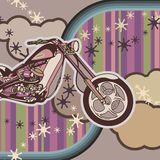 Grunge Motorcycle Background Royalty Free Stock Photo