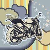 Grunge Motorcycle Background Stock Photo