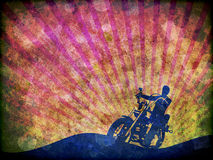 Grunge Motorcycle Rider illustration. A grunge style illustration of the silhouette of a motorbike rider vector illustration