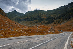 Grunge Mountain Road In Autumn Stock Photography